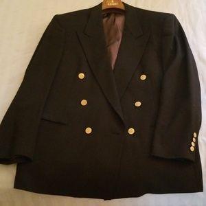 Vintage Men's Christian Dior Suit Jacket Black